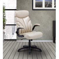 DC#205-CRE - DESK CHAIR Fabric Lift Arm Desk Chair Product Image
