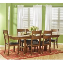 Plantation Dining-to-counter Height Table With Four Ladderback Chairs