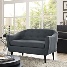 Wit Upholstered Fabric Loveseat in Gray