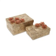 Glimmer Capiz Shell Flower Box - Set of 2