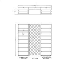 Apex 6' Pine Wine Rack Kit (VT-BINS-CASES LATTICE VT-BINS-CASES) - READY TO SHIP