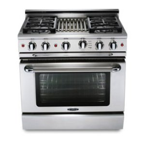 """36"""" six burner NATgas manual-clean range   convection oven - LP available Product Image"""