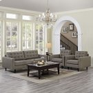 Empress Sofa and Armchairs Set of 3 in Granite Product Image