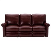 Grant Leather Power Reclining Sofa in Deep Merlot Red Product Image