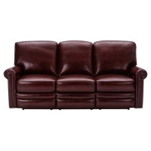 Grant Leather Power Reclining Sofa in Deep Merlot Red