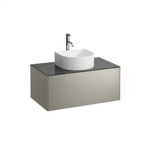 Gold & Nero Marquina Drawer element, 1 drawer, matching bowl washbasins 812340, 812341, 812342, 812343, centre cut-out incl. drilled tap hole Product Image
