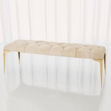 Stiletto Bench-White Hair-on-Hide