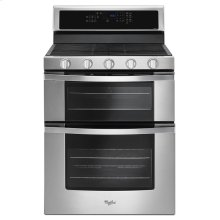 6.0 Cu. Ft. Gas Double Oven Range with EZ-2-Lift Hinged Grates ( OPEN BOX CLOSE OUT )