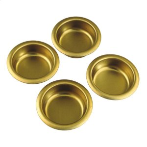 1 In. Builders Hardware Polished Brass Finger Cabinet Pull (4-Pack) Product Image