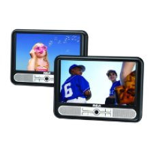 "Twin Mobile DVD Players with 9"" LCD screens"