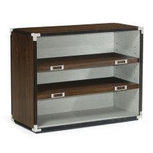 Campaign Style Dark Santos Rosewood Adjustable Storage Cabinet