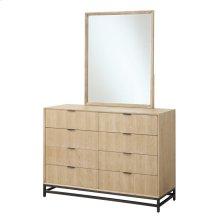 8 Drawer Dresser W/metal Base