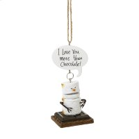 "Toasted S'mores ""I Love You More Than Chocolate!"" Ornament. Product Image"