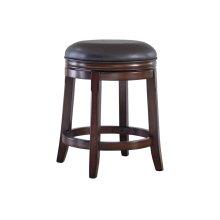 Porter Upholstered Swivel Stool, Rustic Brown