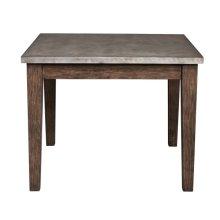 Metal Top Industrial Dining Table