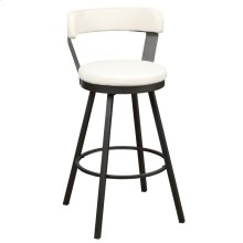 Swivel Pub Height Chair, White