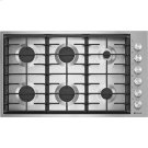 "36"", 6-Burner Gas Cooktop, Stainless Steel Product Image"