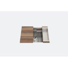 "SmartStation® 005451 - undermount stainless steel Kitchen sink , 27"" × 18 1/8"" × 10"" (Walnut)"