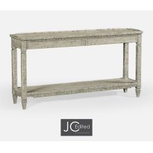 Console Table with Drawer in Rustic Grey