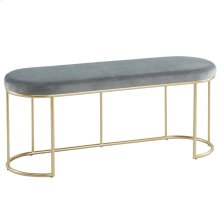 Perla Bench in Grey & Gold