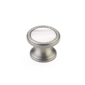 "Kingsway, Knob, Round, 1-1/4"" dia, Antique Nickel, Champagne Glass Product Image"