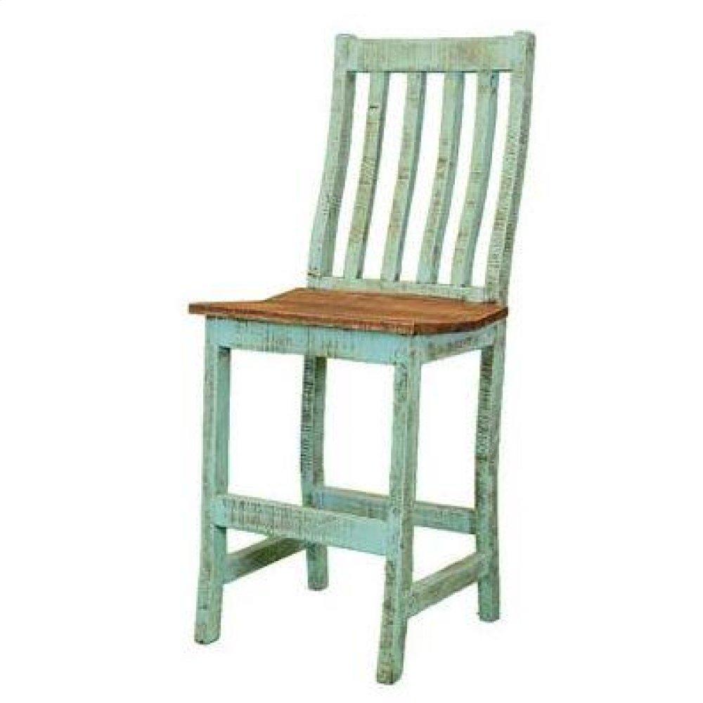 "30"" Turquoise Santa Rita Barstool"