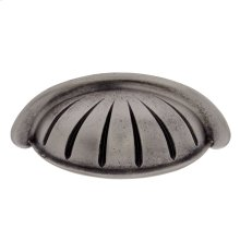 """Rustic Nickel 3"""" c/c Scalloped Cup Pull"""