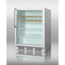 Commercially Approved Built-in Beverage Center for Red Wine and Ale W/digital Thermostat, Stainless Steel Cabinet, Wooden/glass Shelve, and Full-length Handle