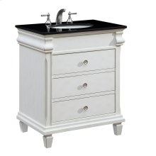 30 in. Single Bathroom Vanity set in Antique White