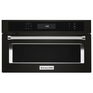 "27"" Built In Microwave Oven with Convection Cooking - Black Stainless Steel with PrintShield™ Finish Product Image"