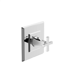 Leyden Thermostatic Valve Trim with Cross Handle - Polished Chrome
