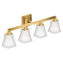 Voss brushed gold bath light