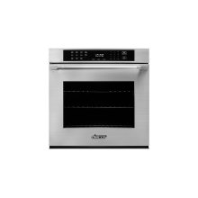 """Heritage 27"""" Single Wall Oven, DacorMatch with Epicure Style Handle (End Caps in stainless steel)"""