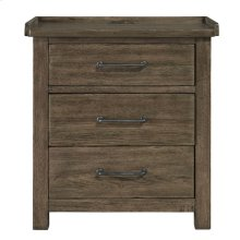 3 Drawer Night Stand w/ Charging Station
