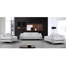 Divani Casa Clef - Modern White Leather Sofa Set