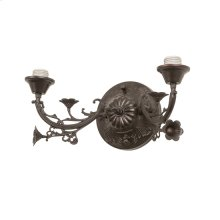 """16""""W Victorian 2 LT Wall Sconce Hardware"""