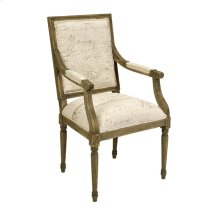 Princella Script Fabric Arm Chair