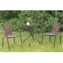 101 / Liz.p1- 3PC OUTDOOR BISTRO SET [P50211(1)+P50111(2)]