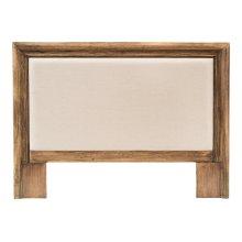 Headboard Frame, Driftwood, Linen Flax