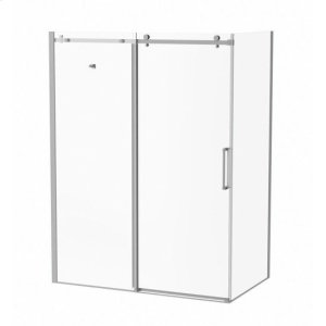 """60"""" 36"""" X 77"""" Sliding Shower Doors With Clear Glass - Chrome Product Image"""