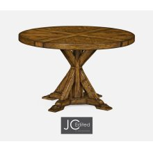 """48"""" Country Walnut Circular Dining Table"""