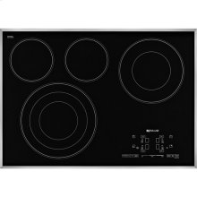 "Euro-Style 30"" Electric Radiant Cooktop with Glass-Touch Electronic Controls, Stainless Steel"