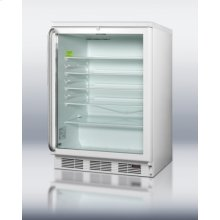 Commercially Approved Built-in Glass Door Beverage Center for Red Wine and Ale, With Digital Thermostat, White Cabinet, Full-length Handle, and Lock