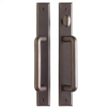 "Rectangular Patio Sliding Door Set - 1 3/4"" x 13"" Silicon Bronze Brushed"