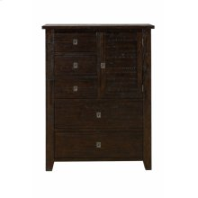 Kona Grove 5 Drawers and 1 Cabinet Chest