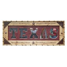 Red Texas Letter Mirror