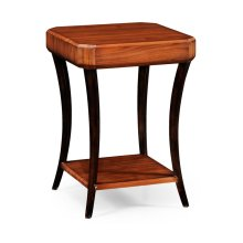 Art Deco Satin Square Side Table