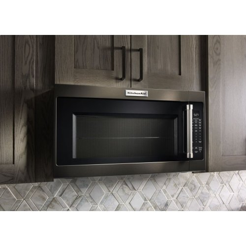"1000-Watt Microwave with 7 Sensor Functions - 30"" - Black Stainless"