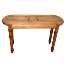 Oval Sofa Table W/ Star