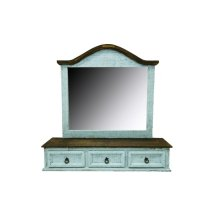 Turquoise Drawer Mirror